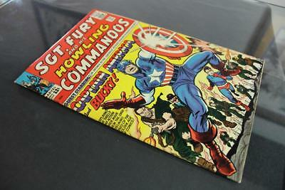 Sgt. Fury #13 -HIGHER GRADE- Marvel 1964 - 2nd solo Captain America X-Over!!!