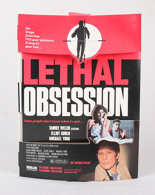 RARE Lethal Obsession Movie Standee, Promo Display, Michael York, vintage
