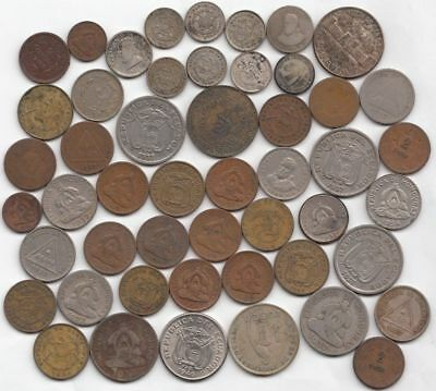 Lot of 50 South American Coins (including 10 Silver Coins)...99 cent open...NR!