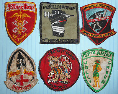 ME6 - RARE LOT x 6 - US DUSTOFF - CRASH RESCUE PATCH - PATCHES - Vietnam War