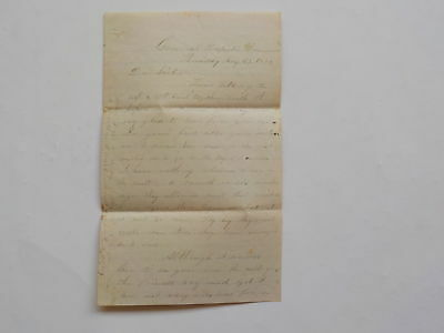 Civil War Letter 1862 Augusta Rangers Sick Wounded Nurses Portsmouth Virginia NR