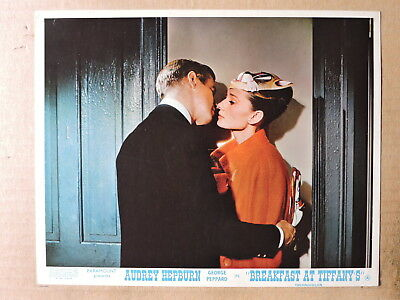 Audrey Hepburn kisses George Peppard color photo 1961 Breakfast at Tiffany's
