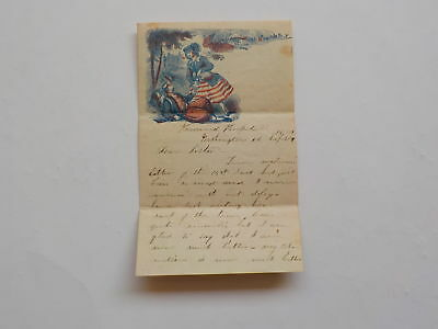 Civil War Letter 1862 Patriotic Invasion Pennsylvania 93rd Harwood Hospital VTG