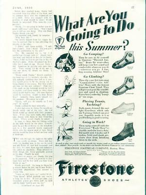 "Original Firestone Athlete ""Commander"" ""Tiretred"" Sneakers Shoes  Ad 1930"