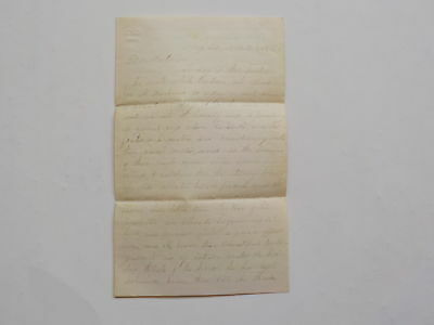Civil War Letter 1862 Unholy Rebellion Fiery Ordeal Camp Edwards Antique VTG NR