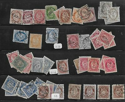 Norway Collection Very Old Used Stamps Numerals
