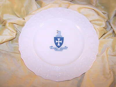 "VINTAGE Sigma Chi fraternity small Lenox China plate w/ crest 8 3/4"" wide OLD"