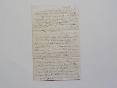 Civil War Letter North Carolina Lizards Camp Werner Corinth Taken Antique 1 VTG