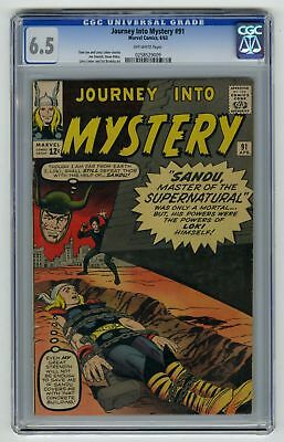 Journey into Mystery #91 CGC 6.5 HIGH GRADE Marvel Comic Thor VINTAGE Silver 12c