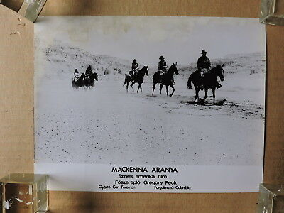Gregory Peck leading the group original photo from Hungary 1972 Mackenna's Gold