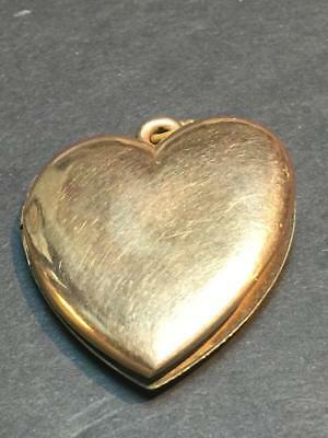 Victorian Era Rolled Gold Heart Locket Pendant - As-Is