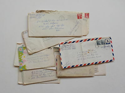 12 Vietnam War Letters Octupus U.H.F. Soldier Syracuse New York Lot Papers Lot N
