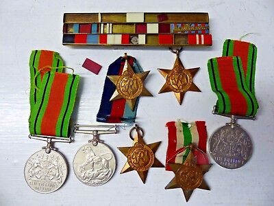Collection Of Old War Medals Including Monte Cassino Bar - Rare - L@@k