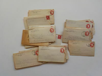 40 Antique Letters 1913-16 Sayre Oklahoma City Lot Collection Postal Covers VTG