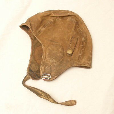 Vintage 30s Leather Harley Davidson Clipper Skull Cap Motorcycle,Aviator Riding