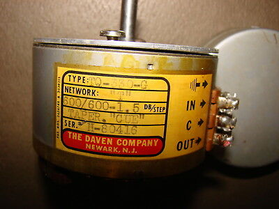 Daven Western Electric Ladder Attenuator, 600/600 Ohms for Tube Amplifier