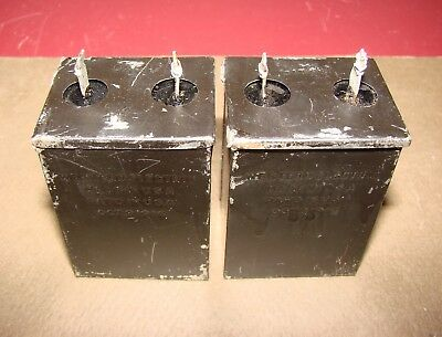 Pair, Western Electric Type D76117 Condensers, .1 MFD, for Tube Amplifier, 1920s