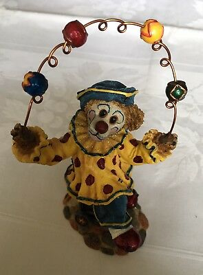 Boyds Bears & Friends The Bearstone Collection 2001 Jiggle Clown Figure