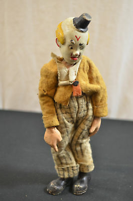 Antique Bucherer Swiss Jointed Metal Doll Clown 1596 #22