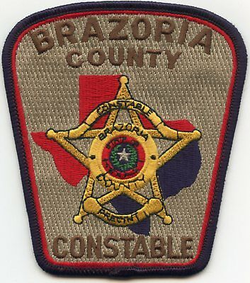 BRAZORIA COUNTY TEXAS TX CONSTABLE sheriff police PATCH