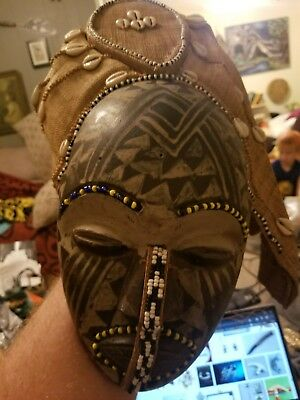 Hand made African mask from Tanzania
