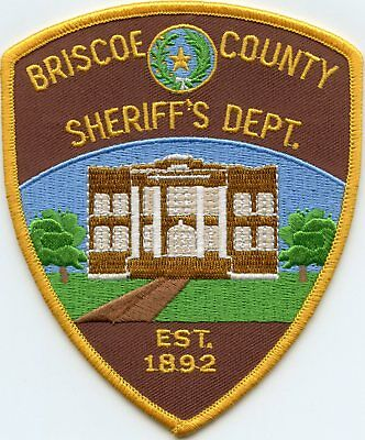 Briscoe County Texas Tx Sheriff Police Patch