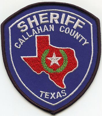Callahan County Texas Tx Sheriff Police Patch