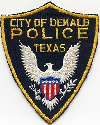 old vintage DEKALB TEXAS TX POLICE PATCH
