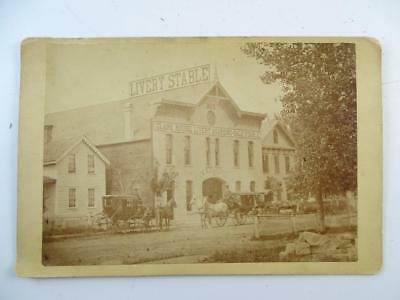 Antique CDV Clark House Livery Boarding House Minneapolis MN 1880s Vintage Horse