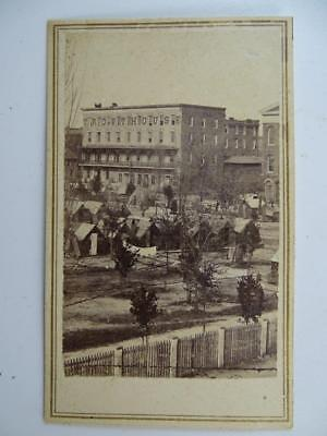 Antique Civil War Era CDV Card Photograph Trout House Atlanta GA Confederate Vtg