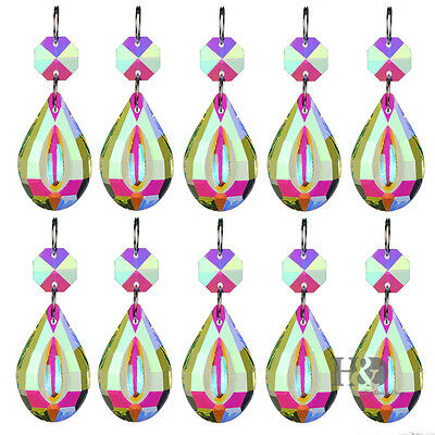 10 pcs Crystal Prisms Chandelier Lighting Part Hanging Lamp Pendant Suncatcher