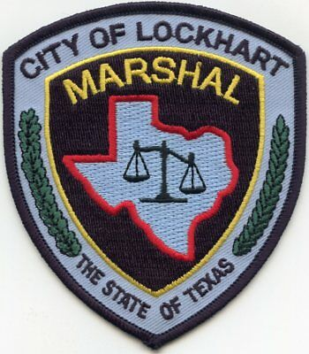 Lockhart Texas Tx Marshal Police Patch