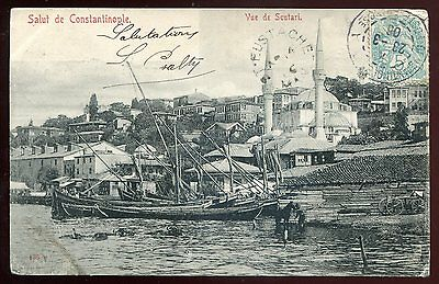 *2078 - TURKEY Constantinople 1906 Scutari. French Offices Levant to Canada