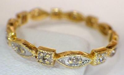 14KT Solid Yellow GOLD BAND diamonds 1.328 Grams 2.6mm Ring Size 7