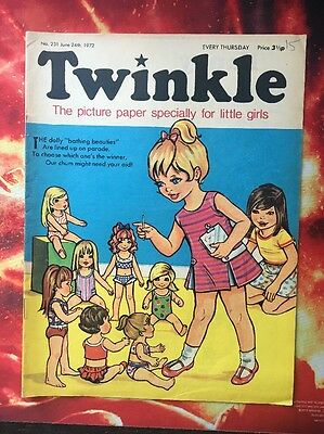Twinkle  Comic No. 231. 24 June 1972 Vfn+ Puzzles Not Done.