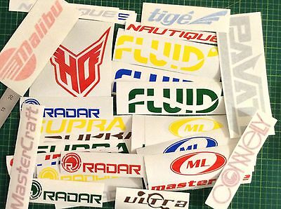 Waterski Sticker Pack Waterskiing Decal Set Obrien Ho Radar ConnellyMalibu Fluid