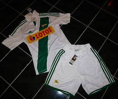 Legia Danzig Jersey with Trousers Size S New, Lechia Gdansk Flocking Possible