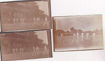 3 Old Photo Men Sport Lords Cricket Ground Pavilion Players Circa 1920S Cl1