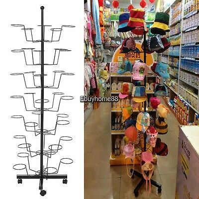 7 layers Vintage Style Hat Cap Metal Stand Hanger Rack Holder Display Stand