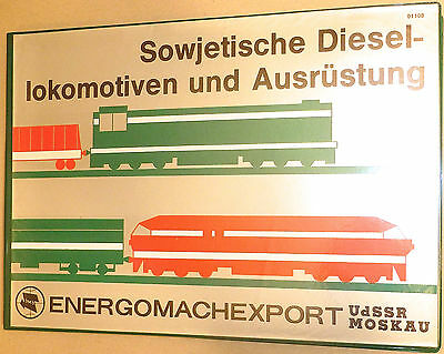 soviet diesel locomotives and Equipment energomachexport USSR Moscow Å