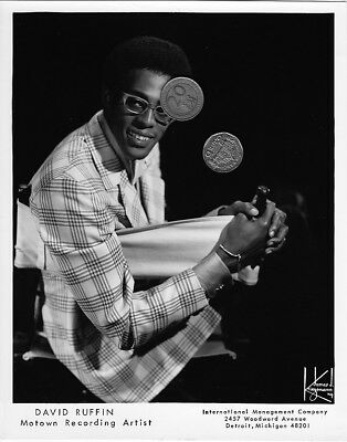 DAVID RUFFIN MOTOWN SINGER PUBLICITY PROMO MUSIC 8x10 PHOTO PICTURE SOUL R&B