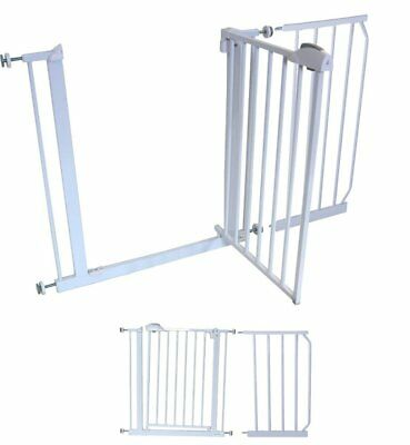 iSafe DeLuxe Safety Stair Gate 90° STOP OPEN & Auto-Close StairGate (45 cm Exten