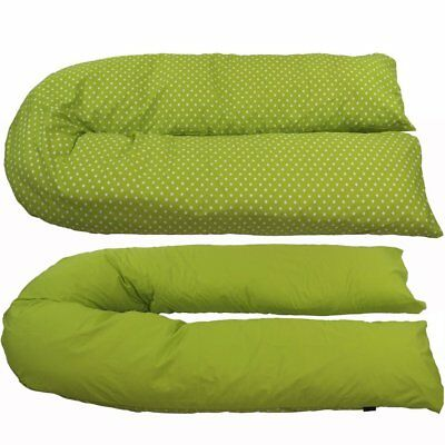 iSafe Pregnancy Maternity And Feeding Pillow - Lime & Stars (With Pillow Case)