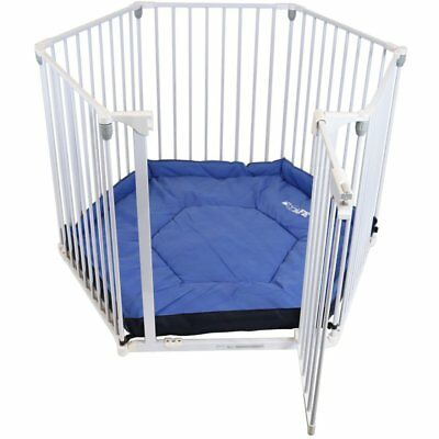 iSafe Metal Baby Playpen 3in1 Fire Guard Room Divider Safety Gate