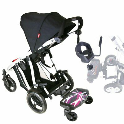 iSafe SegBoard Buggy Board Sit Or Step Pram Board - Splash With Saddle Seat PLUS