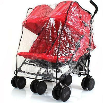 Universal Raincover Double / Twin Buggy/ Stroller