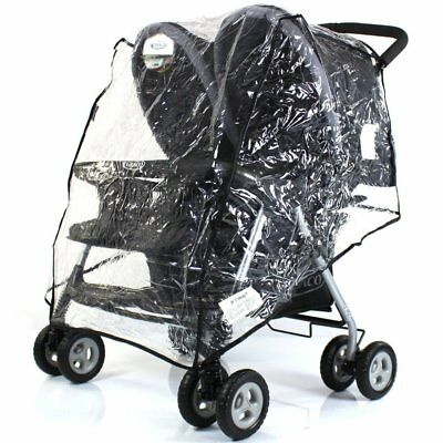 Universal Raincover Double / Twin Buggy/ Stroller / Obaby