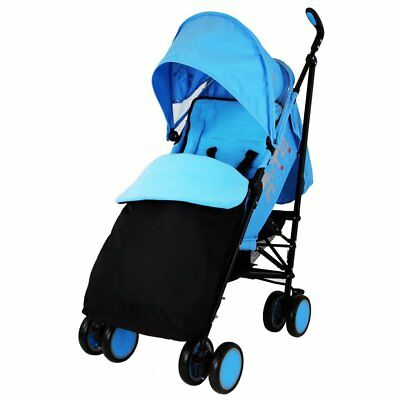 Zeta Citi Stroller Buggy Pushchair - Ocean (Complete With Footmuff + Raincover)