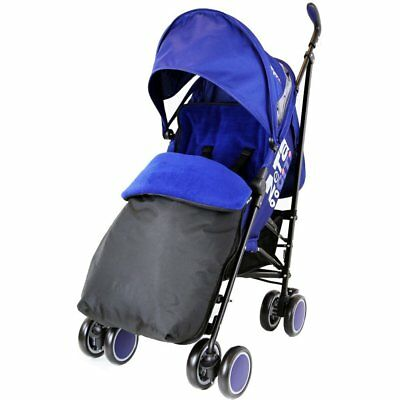 Zeta Citi Stroller Buggy Pushchair - Navy (Complete With Footmuff + Raincover)