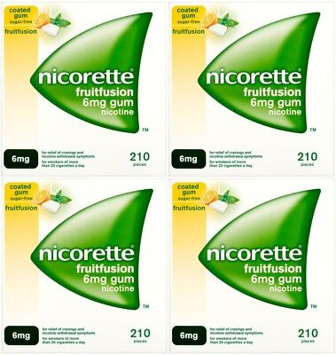 Nicorette 6mg Gum Nicotine 840 Pieces - Fruit Fusion Flavour (03/2018)